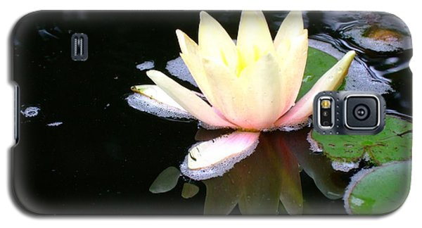 Galaxy S5 Case featuring the photograph Water Lily Reflection  by Deborah DeLaBarre