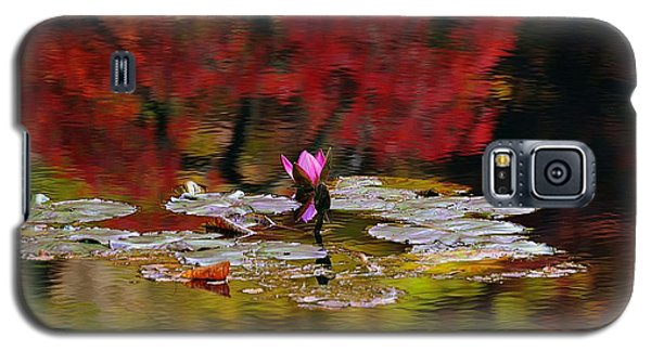 Galaxy S5 Case featuring the photograph Water Lily Reflection by Lisa L Silva