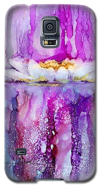 Galaxy S5 Case featuring the painting Water Lily Wonder by Karen Mattson