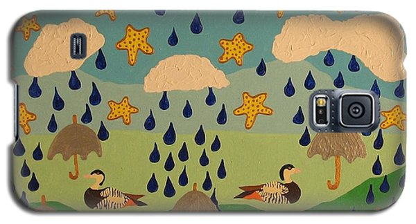Galaxy S5 Case featuring the painting Water Off A Duck's Umbrella by Erika Chamberlin
