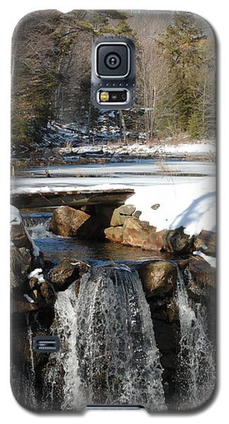 Galaxy S5 Case featuring the photograph Water Over The Dam by Mim White