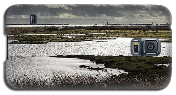 Water Reflection Storm Clouds At Farlington Marshes Wetlands Galaxy S5 Case