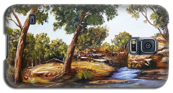 Galaxy S5 Case featuring the painting Water Run by Renate Voigt