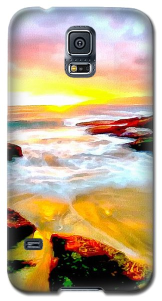 Galaxy S5 Case featuring the painting Water Runs To It by Catherine Lott