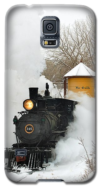 Train Galaxy S5 Case - Water Tower Behind The Steam by Ken Smith