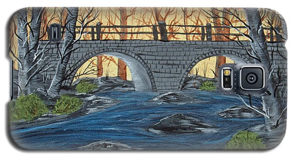 Galaxy S5 Case featuring the painting Water Under The Bridge by Brenda Brown