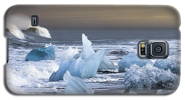 Galaxy S5 Case featuring the photograph Water Versus Ice by Gunnar Orn Arnason