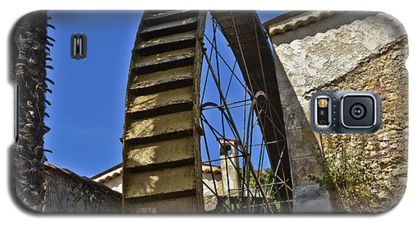 Galaxy S5 Case featuring the photograph Water Wheel At Moulin A Huile Michel by Allen Sheffield