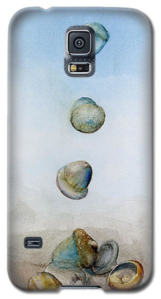 Galaxy S5 Case featuring the painting Watercolor Acorn Falls by Lenora  De Lude