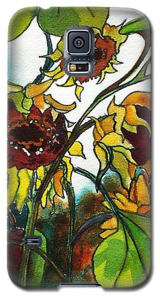 Sunflowers On The Rise Galaxy S5 Case