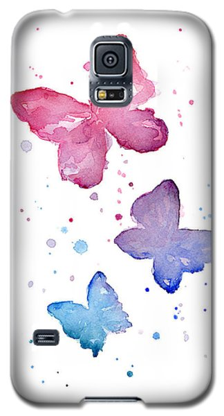 Watercolor Butterflies Galaxy S5 Case by Olga Shvartsur