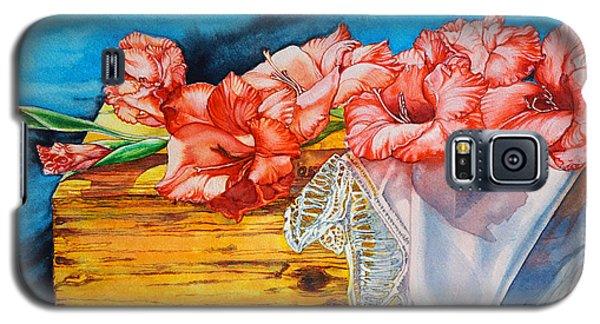 Watercolor Exercise Gladiolas Galaxy S5 Case
