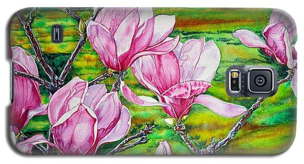 Watercolor Exercise Magnolias Galaxy S5 Case