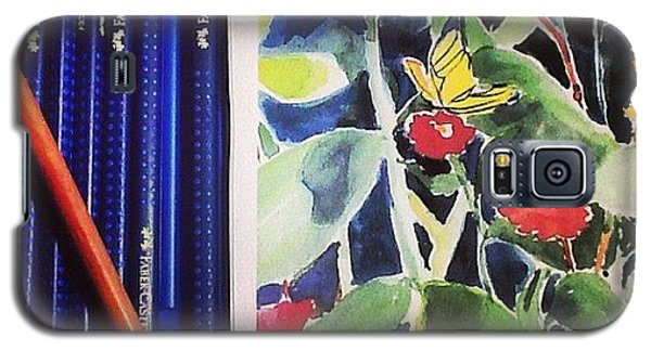 Galaxy S5 Case - Watercolor Greetings Cards.... Pintando by Sandra Lira
