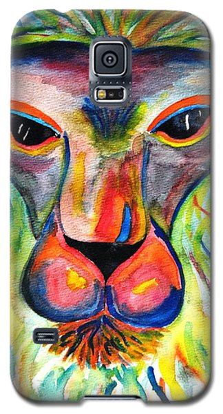 Watercolor Lion Galaxy S5 Case by Angela Murray