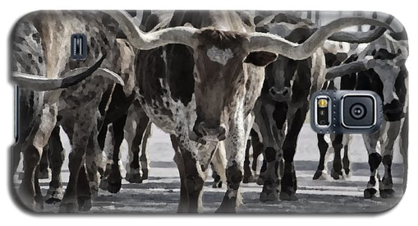 Watercolor Longhorns Galaxy S5 Case by Joan Carroll
