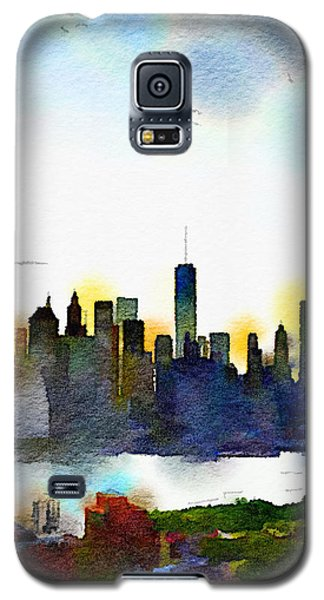 Watercolor Manhattan Galaxy S5 Case