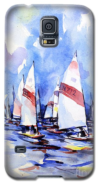 Watercolor Of Scow Boats Racing Torch Lake Mi Galaxy S5 Case