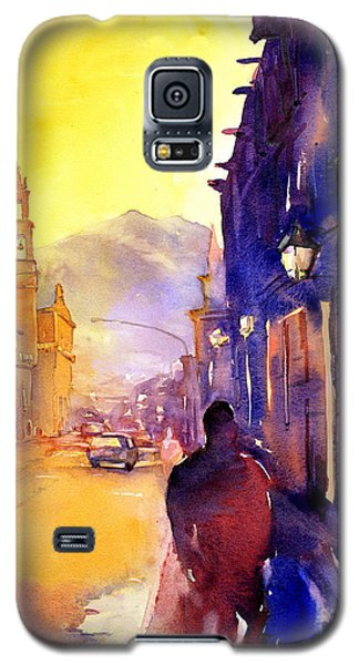 Watercolor Painting Of Street And Church Morelia Mexico Galaxy S5 Case