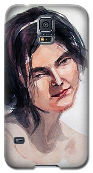 Watercolor Portrait Of A Young Pensive Woman With Headband Galaxy S5 Case