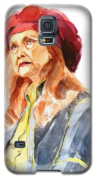 Watercolor Portrait Of An Old Lady Galaxy S5 Case
