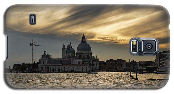 Galaxy S5 Case featuring the photograph Watercolor Sky Over Venice Italy by Georgia Mizuleva
