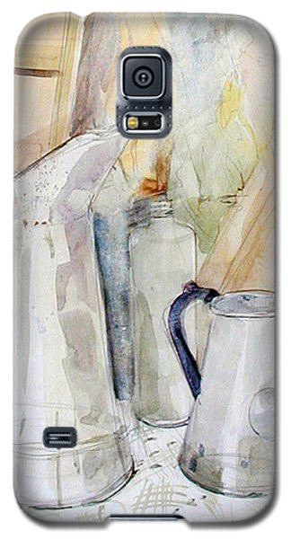Watercolor Still Life Of White Cans Galaxy S5 Case
