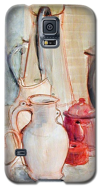 Watercolor Still Life With Red Can Galaxy S5 Case