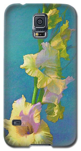 Watercolor Study Of My Garden Gladiolas Galaxy S5 Case