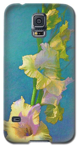 Watercolor Study Of My Garden Gladiolas Galaxy S5 Case by Douglas MooreZart