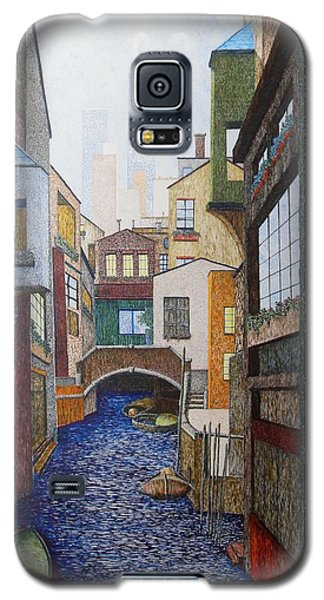 Galaxy S5 Case featuring the painting Watered World by A  Robert Malcom