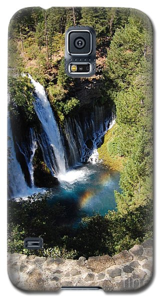 Galaxy S5 Case featuring the photograph Waterfall And Rainbow 2 by Debra Thompson