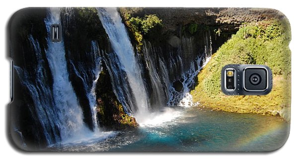 Galaxy S5 Case featuring the photograph Waterfall And Rainbow 4 by Debra Thompson