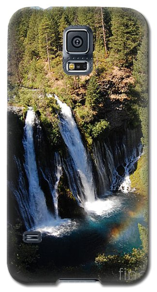 Galaxy S5 Case featuring the photograph Waterfall And Rainbow by Debra Thompson