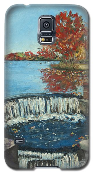 Galaxy S5 Case featuring the painting Waterfall Brookwood Hall by Susan Herbst