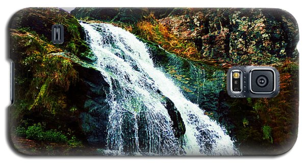 Waterfall By Stiles Cove Path Galaxy S5 Case