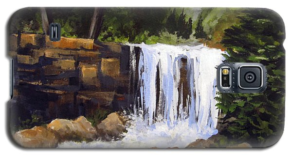 Galaxy S5 Case featuring the painting Waterfall by Carol Hart