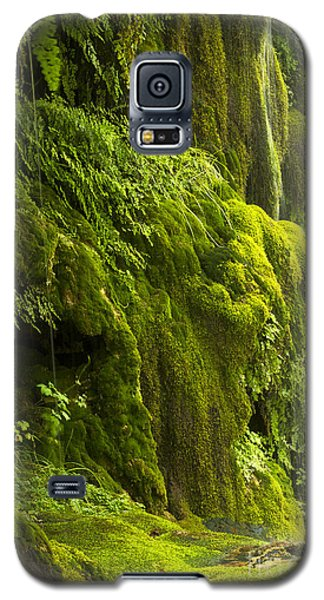 Galaxy S5 Case featuring the photograph Waterfall In Green by Bryan Keil