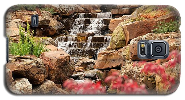 Galaxy S5 Case featuring the photograph Waterfall In The Garden by Elizabeth Budd