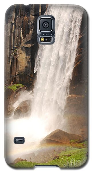 Galaxy S5 Case featuring the photograph Waterfall Rainbow by Mary Carol Story