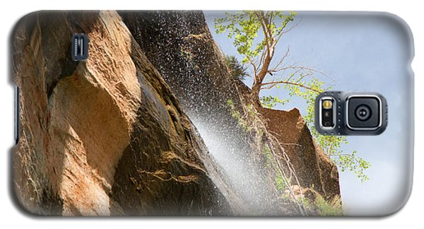Waterfall Zion National Park Galaxy S5 Case