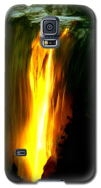 Galaxy S5 Case featuring the painting Waterfalls By Light by Bruce Nutting