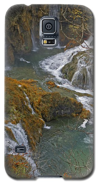 Waterfalls Connecting Plitvice Lakes Galaxy S5 Case by Joan McArthur