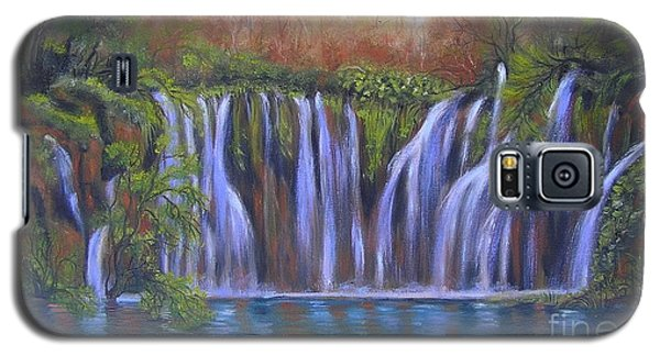 Galaxy S5 Case featuring the painting Waterfalls - Plitvice Lakes by Vesna Martinjak