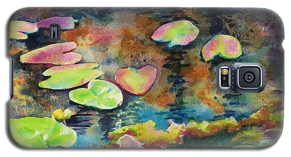 Galaxy S5 Case featuring the painting Waterlilies In Shadow by Kathy Braud