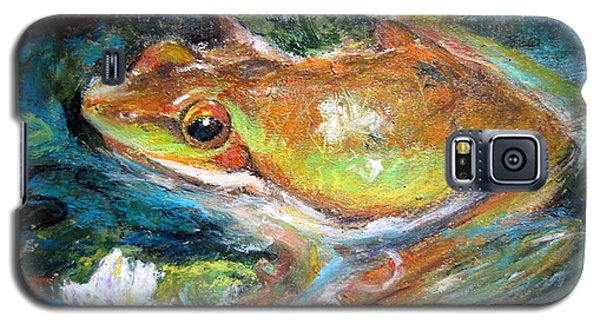 Waterlily And Frog Galaxy S5 Case by Jieming Wang