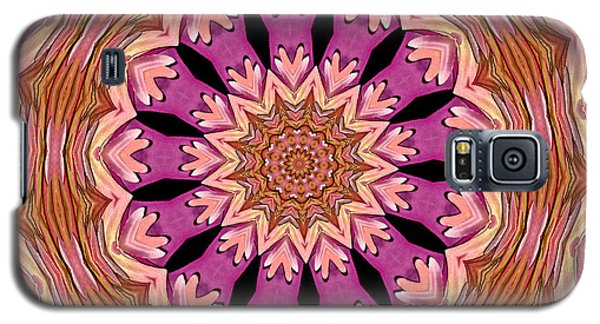 Galaxy S5 Case featuring the photograph Waterlily Flower Kaleidoscope 2 by Rose Santuci-Sofranko