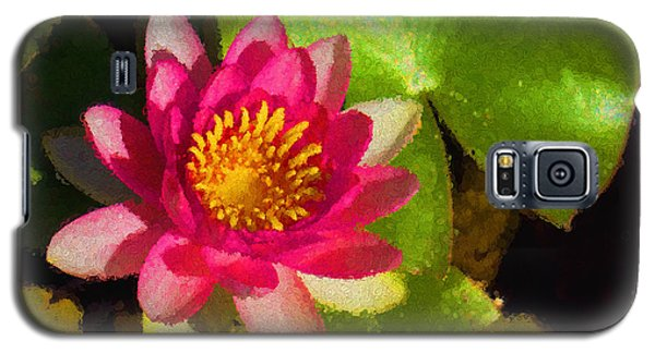 Waterlily Impression In Fuchsia And Pink Galaxy S5 Case