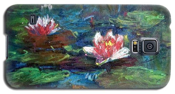 Waterlily In Water Galaxy S5 Case by Jieming Wang