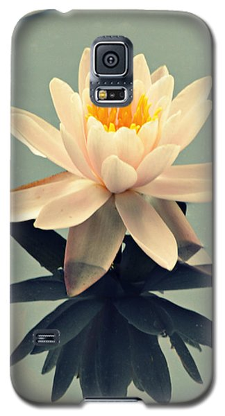 Galaxy S5 Case featuring the photograph Waterlily On Glass by Mary Zeman